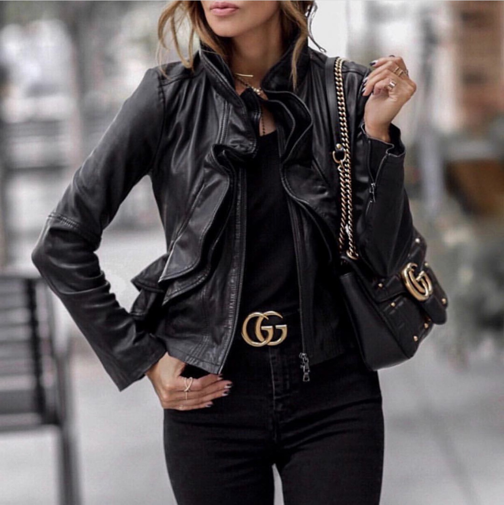 leather pieces for spring, leather jacket, lolario style | lolariostyle.com