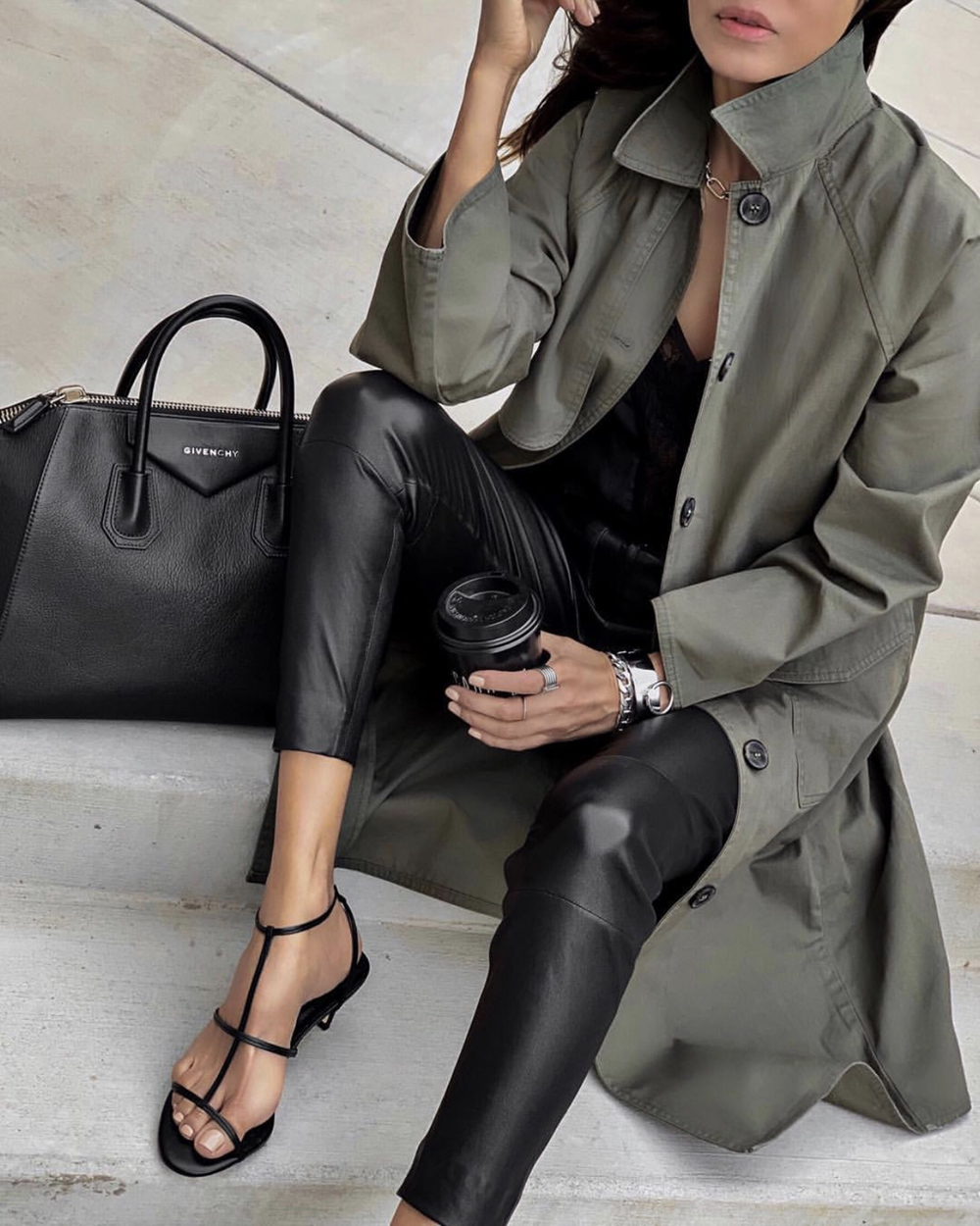 leather pieces for spring, leather pants, lolario style | lolariostyle.com