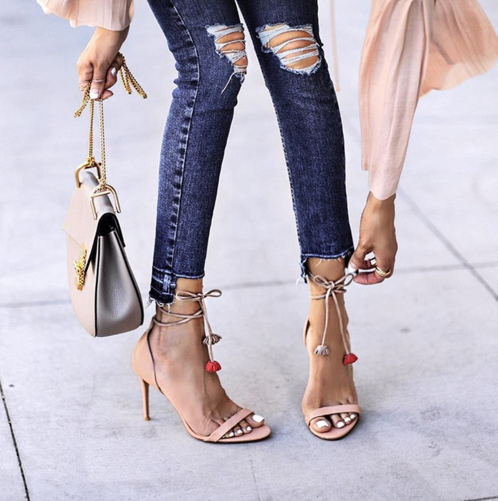 shoes every woman needs, nude tassel heels, nude sandals, summer heels | lolariostyle.com