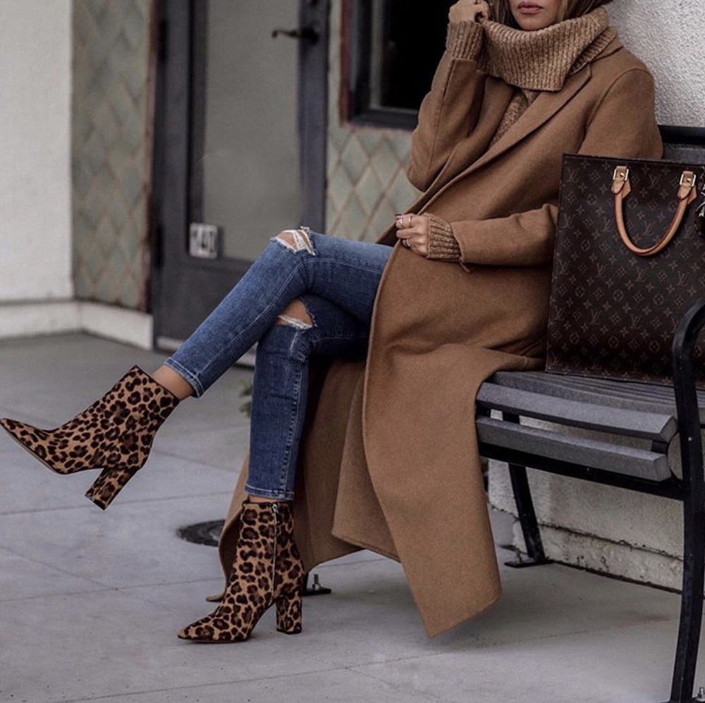 best boots for fall 2019, leopard booties, fall 2019 boot trends | lolario style