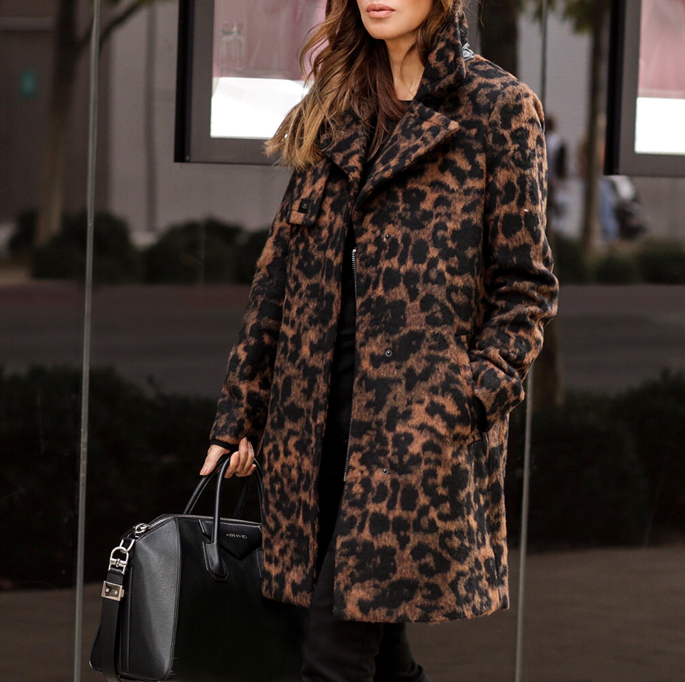 fall trends on a budget, karl lagerfeld leopard print jacket, walmart lord and taylor | lolario style